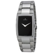 Movado Eliro Black Dial Stainless Steel Ladies Watch