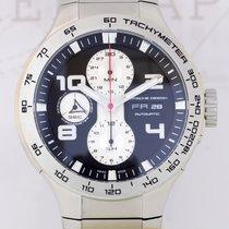 Porsche Design Flat Six Chronograph black Dial Steel Bracelet...