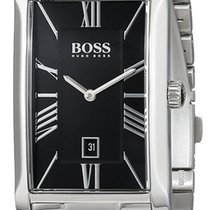 Hugo Boss Admiral Stainless Steel Mens Watch Black Dial...