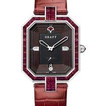 Graff Vendôme 18K White Gold, Diamonds & Rubies Ladies Watch