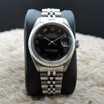 勞力士 (Rolex) DATE Ladies 6917 SS Black Roman Dial with Solid...