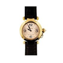 Cartier WJ118919 Pasha Ladies 32mm in Yellow Gold - on Black...