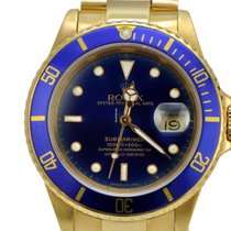 Rolex 16618 18k Yellow gold Submariner Blue Dial