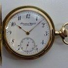 IWC Sprungdeckel-Taschenuhr - Gold 585 - Adelsgravur - um 1907