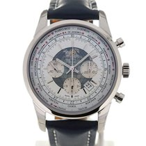 Breitling Transocean 46 Unitime White Dial Chronograph