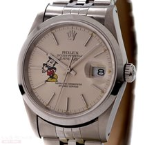 Rolex Datejust Man Size Ref-16200 Stainless Steel Mickey Mouse...