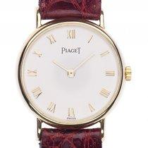Piaget Classique Lady 18kt Gelbgold Quarz Armband Leder 25mm...