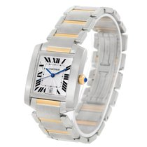 Cartier Tank Francaise Large Steel Yellow Gold Automatic Watch...