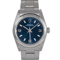 Rolex Mid Size Oyster Perpetual Blue Dial, Ref: 77080