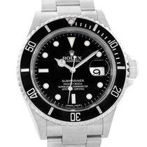 Rolex Submariner 40mm Black Dial Stainless Steel Mens Watch 16610