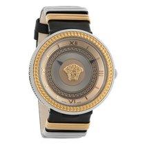 Versace V-Metal Icon Series Unisex Two Tone Quartz Watch...