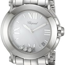 Chopard Happy Sport 36mm Quartz White with Diamonds Dial T