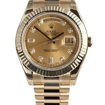 Rolex DAY-DATE II YELLOW GOLD DIAMOND DIAL