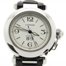 Cartier Pasha Big Date 2475 Automatic Steel 35mm White Dial +...