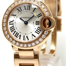 Cartier WE9002Z3 Ballon Bleu Silver Dial Diamonds Women 18kt...