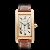 Cartier Tank Americaine 18k Yellow Gold Ladies 1725 - W4098
