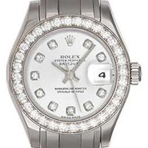 Rolex Ladies Pearlmaster 18k White Gold Watch 80299 Silver...