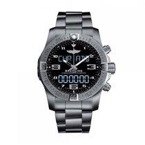 Breitling Professional Quartz Titanium Black Dial Mens Watch...