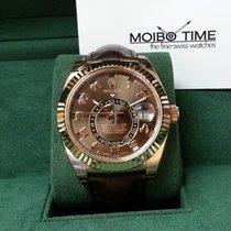 勞力士 (Rolex) Sky-Dweller 18K Everose Gold Leather Rose Gold [NEW]