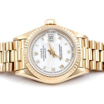 Rolex Ladies 18k Gold President - White Roman Dial - 69178