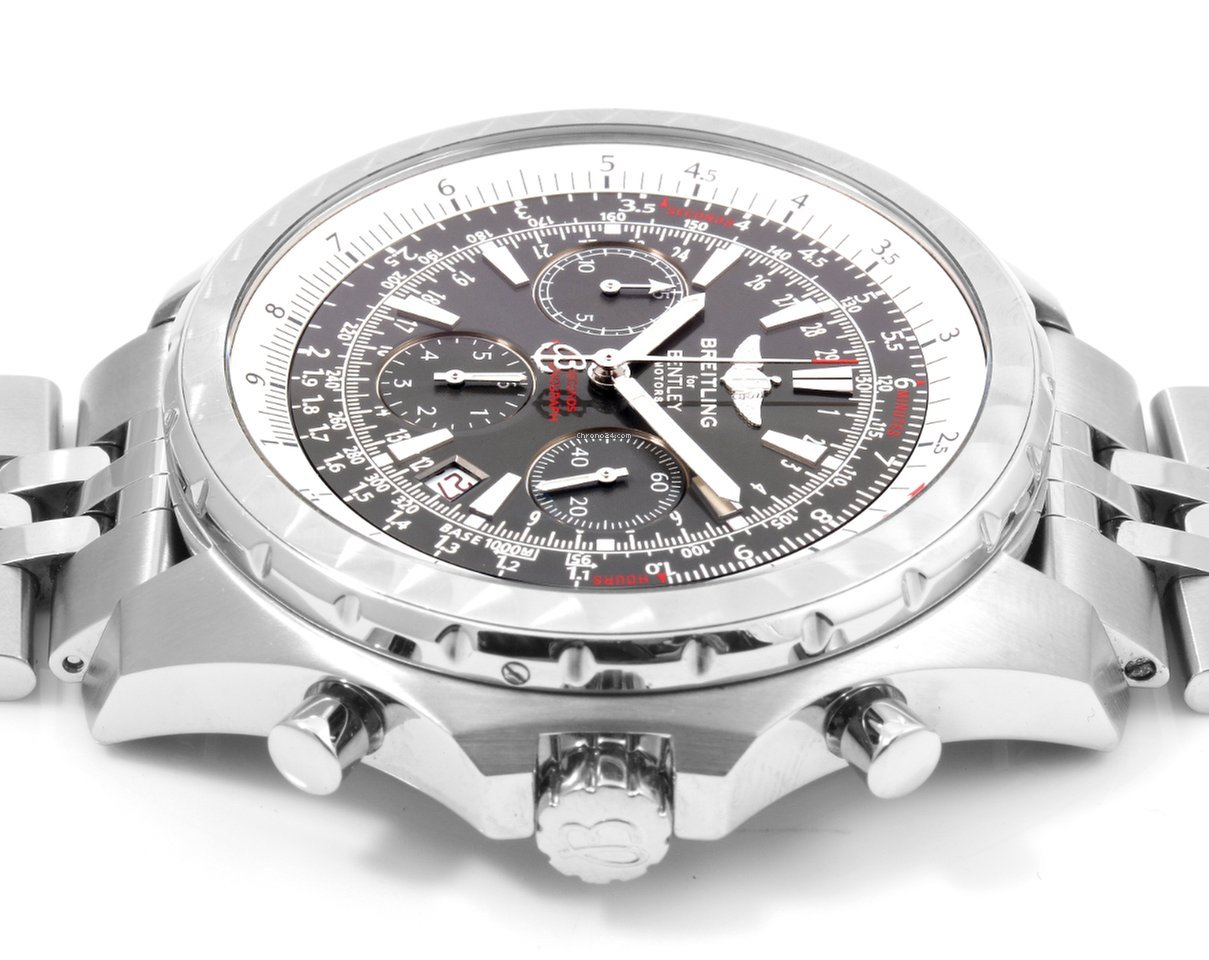 bentley grey dial motors chronograph i watch mens breitling