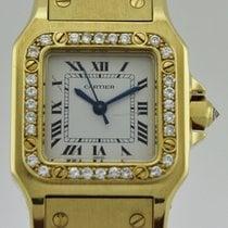 Cartier Santos Galbee Full Gold 18k Bezel Diamonds