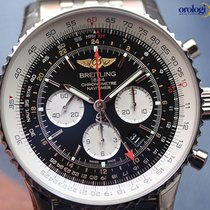 Breitling Men's Navitimer GMT 48mm Steel on Steel Bracelet...