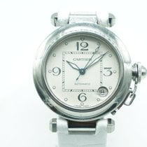 Cartier Pasha C Women's White  Dial White Leather