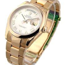 Rolex Unworn 118205_rose_roman Rose Gold Mens President Day -...