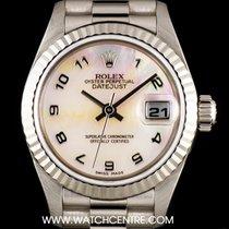 롤렉스 (Rolex) 18k W/Gold O/P Mother of Pearl Dial Datejust...