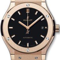 Hublot Classic Fusion 45mm Automatic 18K Rose Gold Mens Watc