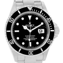 Rolex Submariner Date Stainless Steel Black Dial Mens Watch 16610