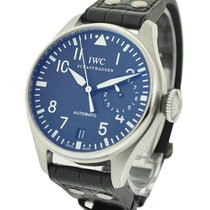 IWC IW500901 Big Pilot in Steel - on Black Alligator Leather...