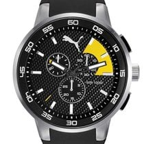 Puma PU104161003 Silver Black Chrono 46mm 10ATM
