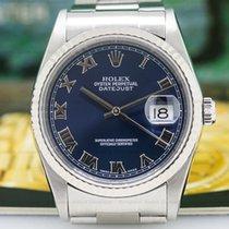 Rolex 16234 16234 Datejust Blue Roman Dial SS (26439)