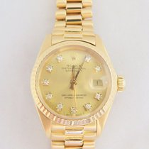 Rolex Datejust 18k Yellow Gold Original Diamond Dial