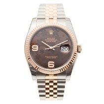롤렉스 (Rolex) Datejust Rose Gold Brown Automatic 116231BRFLO69DIA