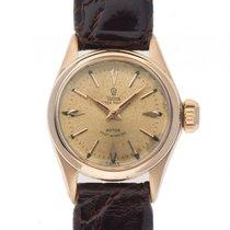 Tudor Oyster Princess 18kt Gelbgold Automatik Leder Armband...