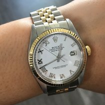 Rolex 1500 Datejust Two Tone  Roman Dial Mens Watch