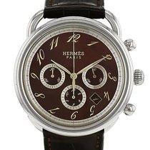 Hermès Arceau Chrono en acier Ref : AR4.910 Vers 2000