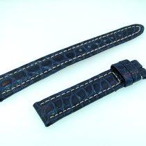 Breitling Band 16mm Croco Blau Blue Azul Strap Für Dornschlies...