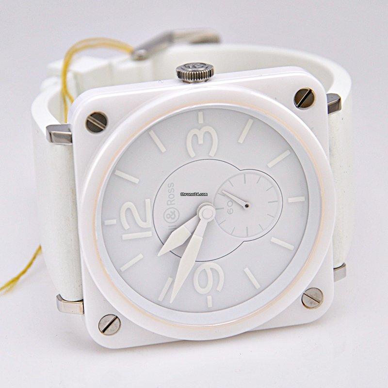 Bell Amp Ross Br S Quartz White Ceramic Phantom Pre Owned
