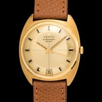 Zenith Vintage NOS date Automatic 28800,  cushion case 18k gold