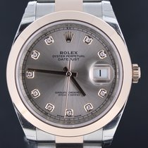 Rolex Datejust Gold/Steel Pink Factory Diamond Dial 41MM Full Set