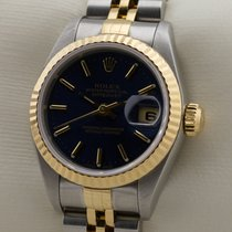 Rolex LADY DATEJUST EDELSTAHL 18K GOLD GELBGOLD DAMENUHR SERVICE