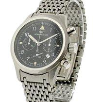 IWC 3741-001 Flieger Chronograph in Steel - On Steel Bracelet...