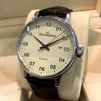 Meistersinger Scrypto Mens Watch Steel Automatic 43 mm (Full Set)