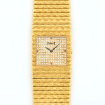 Piaget Emperador Yellow Gold Pave Diamond Dial Watch