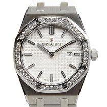 Audemars Piguet Royal Oak Stainless Steel With Diamonds White...