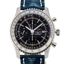 Breitling Navitimer World 46 Chronograph Black Dial Blue...